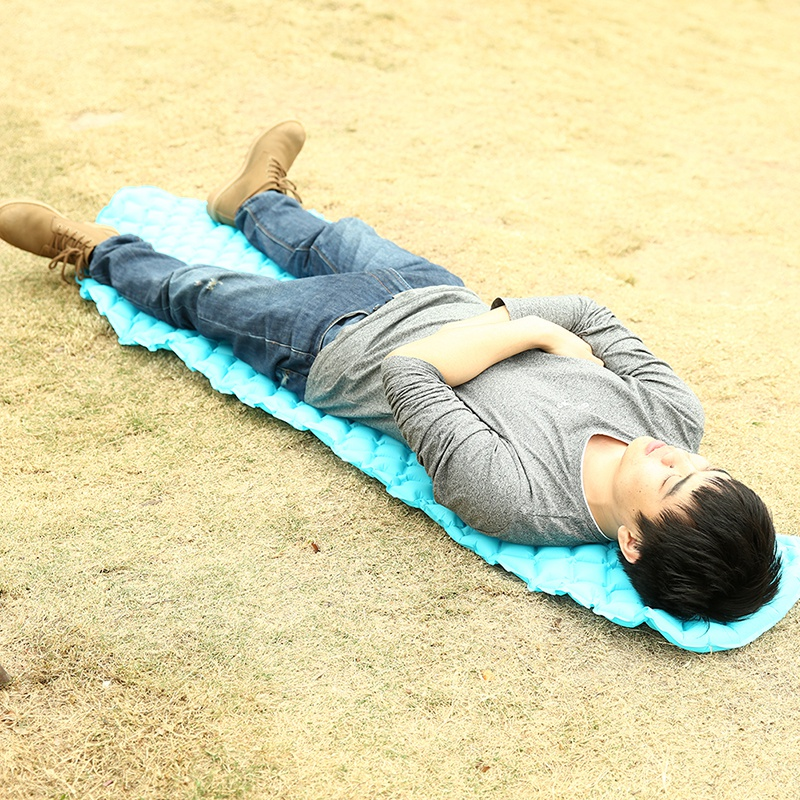 Outdoor Ultra-light TPU Inflatable Mattress Portable Sleep Air Cells Manual Inflatable Pad Durable Camping Mat durable thicken pvc car travel inflatable bed automotive air mattress camping mat with air pump
