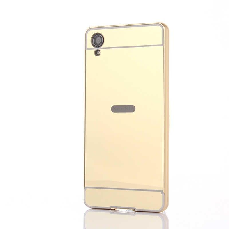 Pour Sony XA F3111 F3112 boîtier en métal avec miroir couverture arrière étui rigide pour Sony Xperia XA 1 XA1 G3112 G3116 G3121