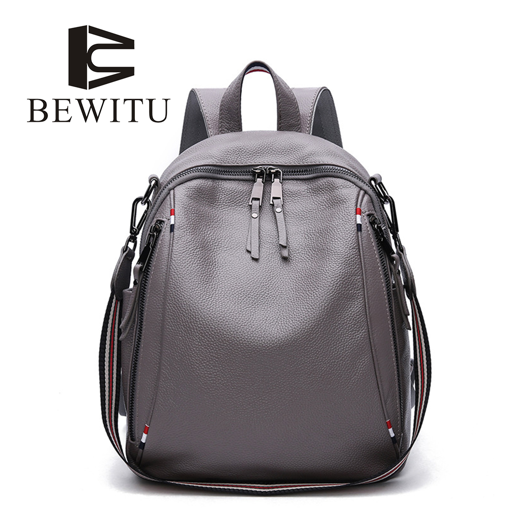 BEWITU Fashion Backpack Women Backpacks Real Leather School Bag for Girls Travel Shoulder Bag Female Good Quality Daily Daypacks brand bag backpack female genuine leather travel bag women shoulder daypacks hgih quality casual school bags for girl backpacks
