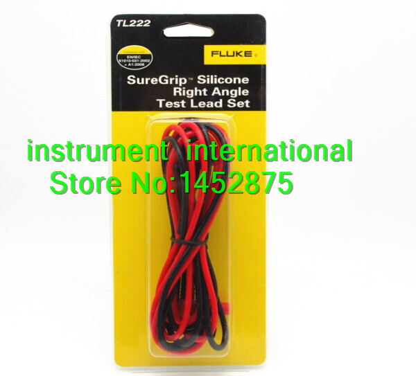 Fluke TL222 SureGrip Silicone Insulated Test Leads Right Angle