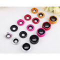 3in1 Universal Clip 180 Degree Fish Eye+0.65X Wide Angle+Macro Lens Mobile Phone Camera Kit for iPhone 5 6 LG Samsung Smartphone