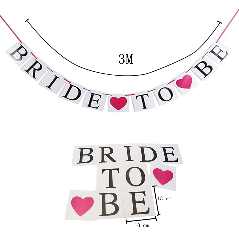 Bride To Be Banner With Gold Glitter Heart Bachelorette Bridal