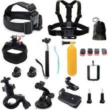 Tekcam para Go pro Acessórios Gopro Montagem para Capacete Da Bicicleta Gopro Hero3 Herói 4 Câmera de Ação sj4000 SJCAM sj5000 4 K acessórios