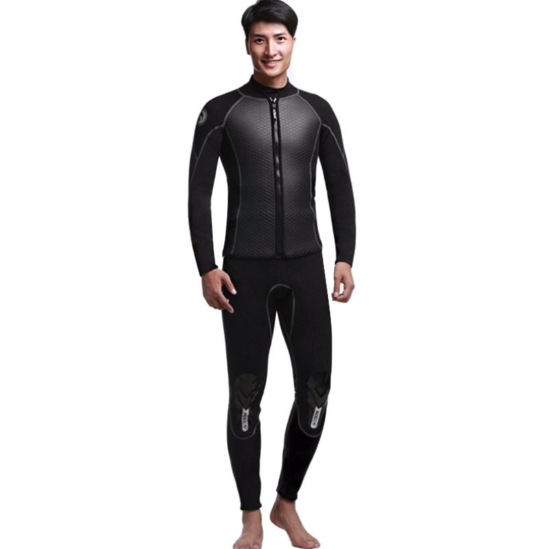 2018 Men Spearfishing Wetsuit 2.5mm Neoprene Swimsuit Dive Surf Snorkel Swim Wet Suit Swimwear Long sleeve TwoPiece large size women men spearfishing wetsuit one piece swimsuit 2mm yamamoto diving surf snorkel swim wet suit swimwear long sleeve plus size