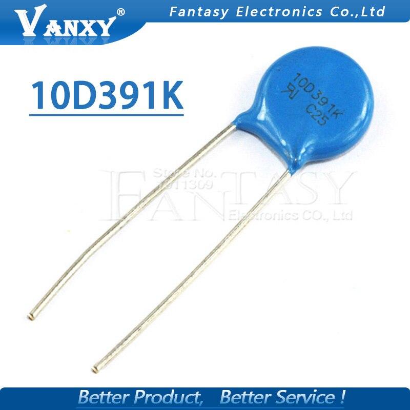 10pcs Varistor 10D391K 390V Piezoresistor 10D391