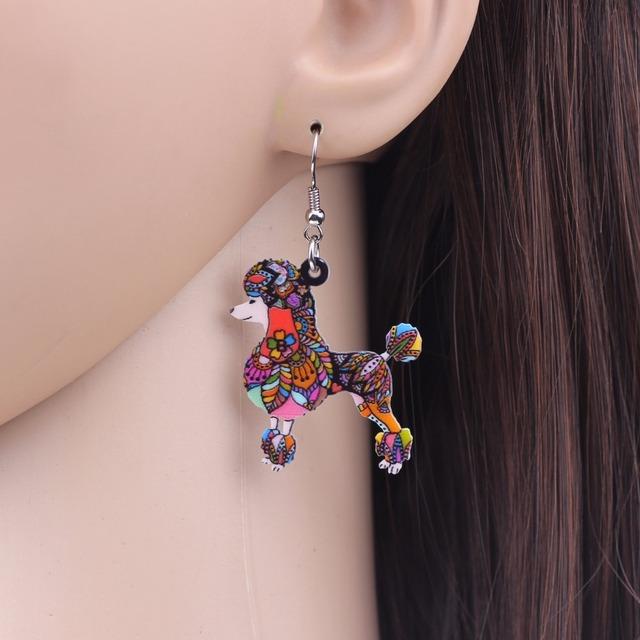 Creative Colorful Dog Shaped Earrings