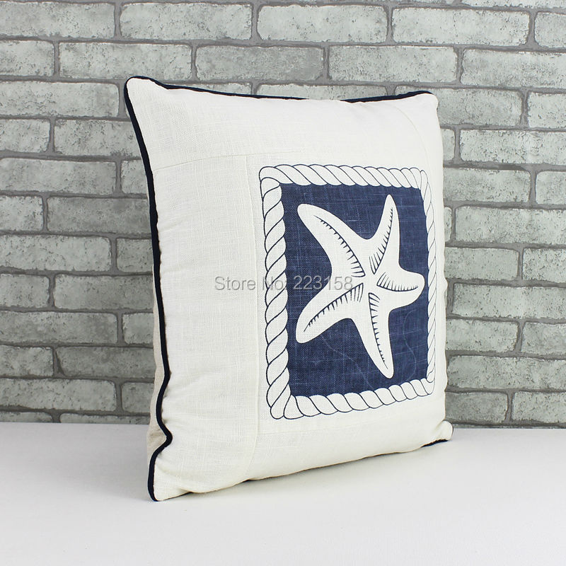 Starfish motif coton et lin oreiller, Style marin créative de la ...