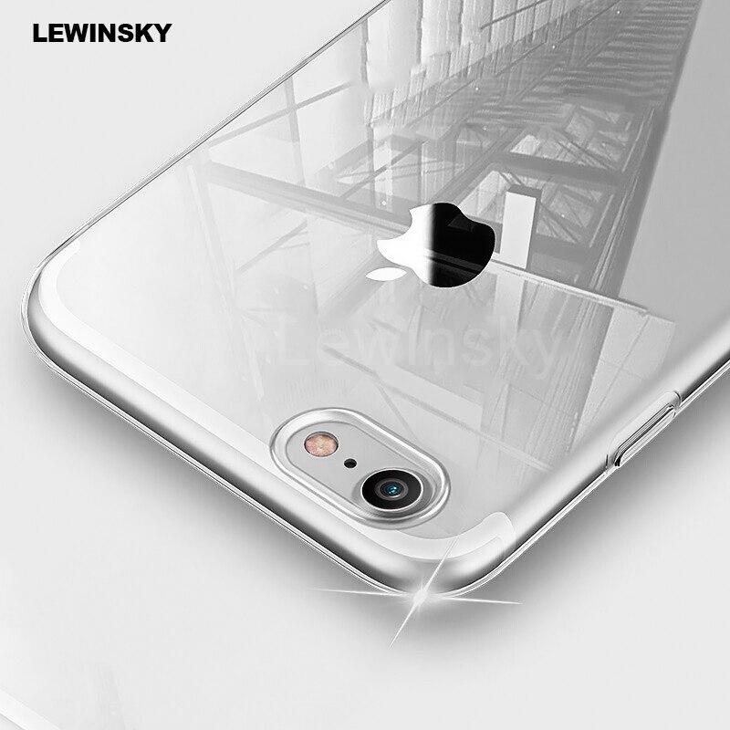 Galleria fotografica Ultra Thin Slim Clear Transparent Soft TPU Case For iPhone 8 7 plus Clear Silicone Case For iphone 6s 6 X Phone Back Case Cover