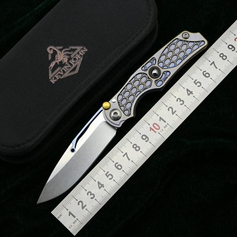kevin john Tilock folding knife m390 blade titanium handle utility camping hunting survival pocket Kitchen fruit