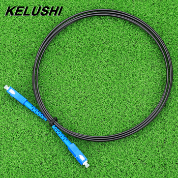 KELUSHI 2M Simplex Single Mode Fiber Optic Patch Cord sc-sc SM SX 3.0 Fiber Optic Connecting Tool Fiber Jumper