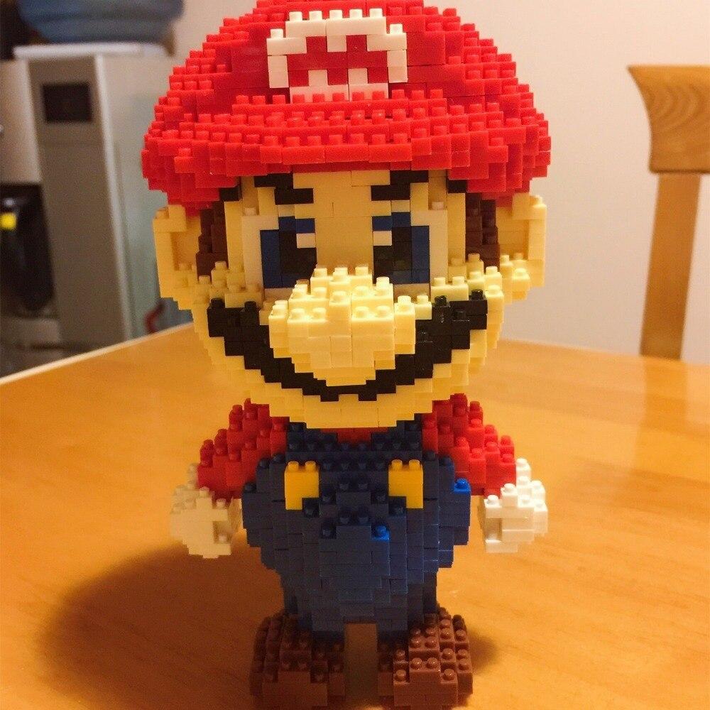 HC9003 1750Pcs Super Mario Red Series Without Original Box Building Blocks Diamond Bricks Toys Compatible With LOZ HC 9003