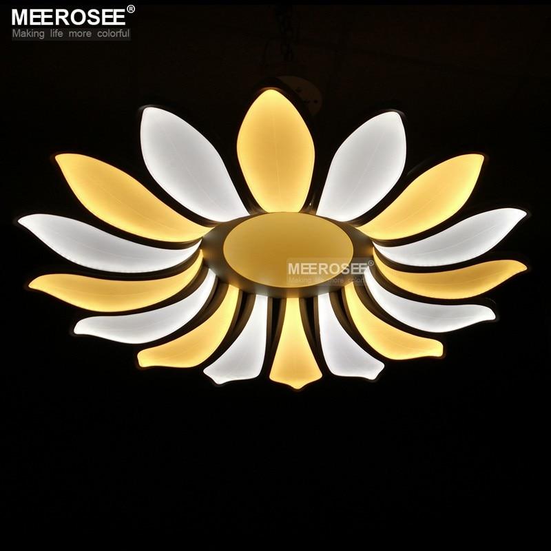 Creative Led Ceiling Lights Fixture Modern 16 Petals Flower Acrylic Led Lamp Lustres Dining Living Room Lamparas De Techo Light
