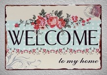 1 piece Welcome to my Home Tin Plate Sign wall Room man cave Decoration Art Dropshipping Poster metal