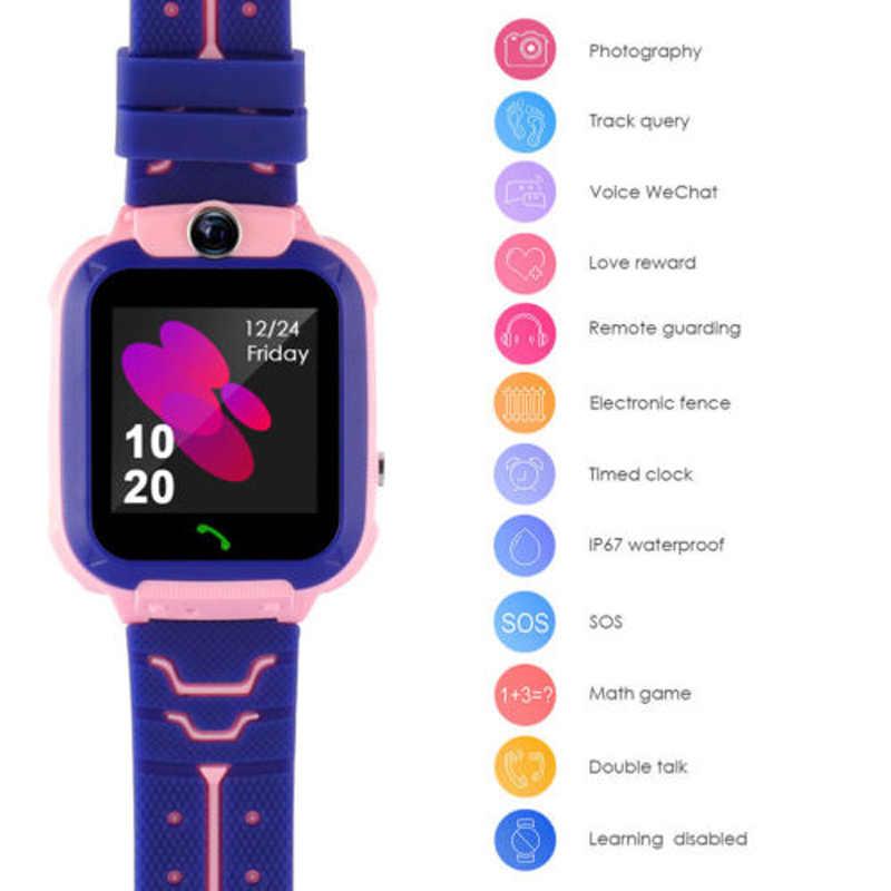 GEJIAN الاطفال الساعات تحديد المواقع ساعة اليد تعقب بطاقة SIM نداء تحديد الموقع مكافحة خسر كاميرا مراقبة صور الأطفال