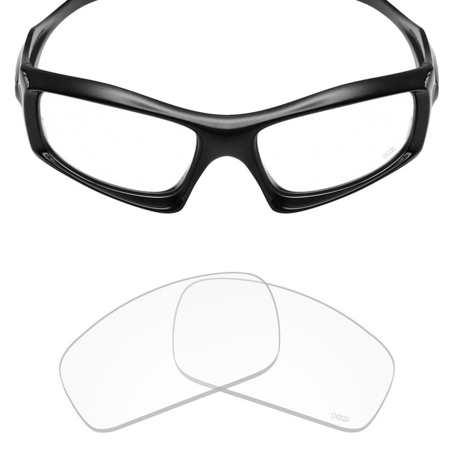 f41b3f30cc Mryok+ Resist SeaWater Replacement Lenses for Oakley Monster Pup Sunglasses  HD Clear