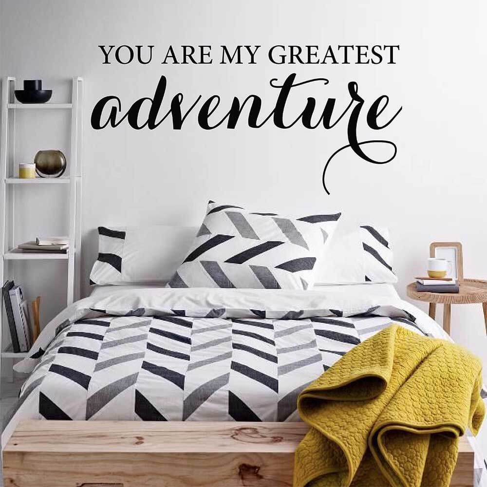 You Are My Greatest Adventure Quotes Wall Sticker Inspirational