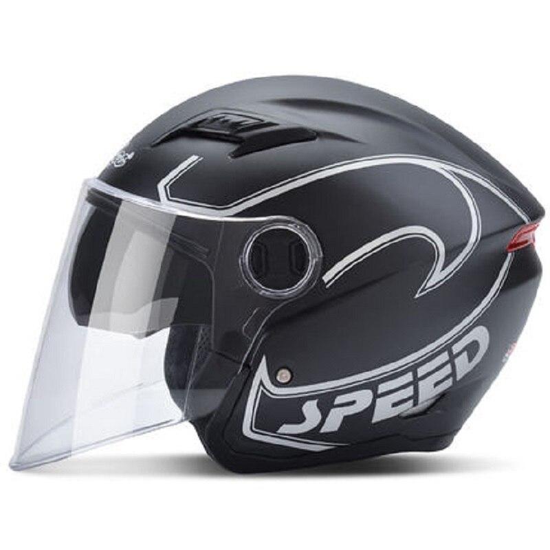 Andes casque de Moto Scooter unisexe casque d'équitation coupe-vent Protection UV Flip Up 2 visières casque de Motocross Casco Moto