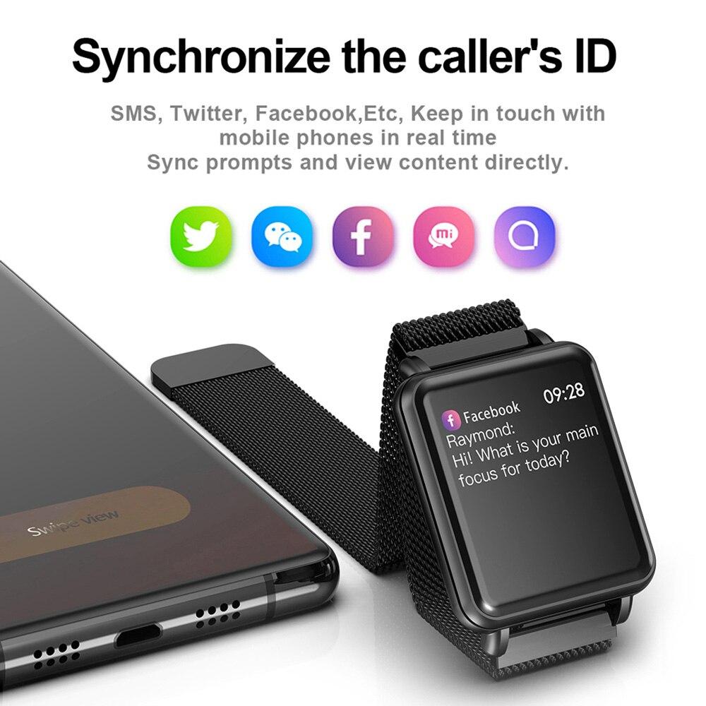 COLMI Land 1 montre intelligente à écran tactile complet IP68 étanche Bluetooth Sport fitness tracker hommes Smartwatch pour téléphone Android IOS - 3