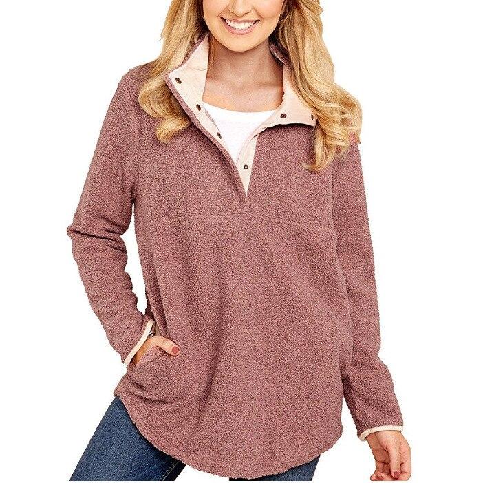 2017 New Women Plush Fleece Pullover Hoodie Female Autumn Winter Long Sleeve Loose Warm Fleece Tops