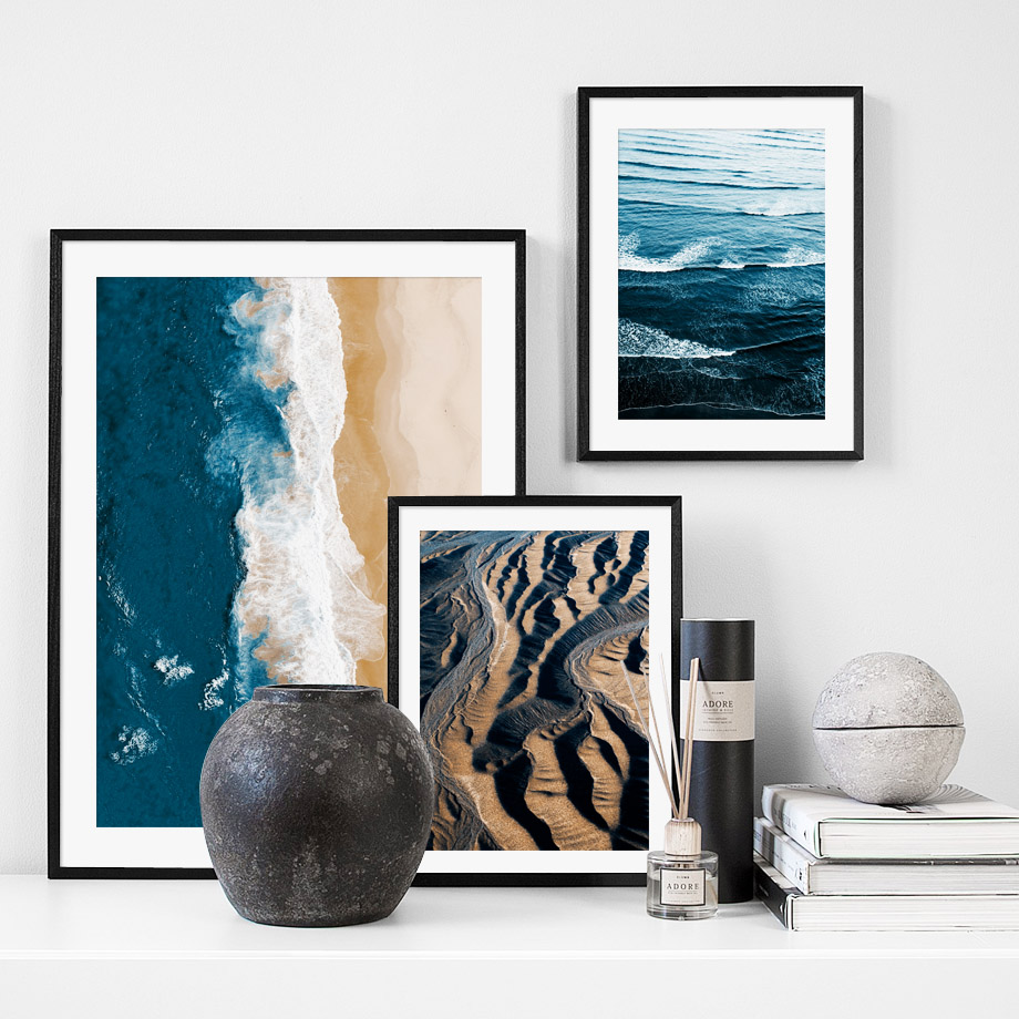 Wall Art Canvas Painting Nature Ocean Beach Lighthouse Nordic Posters And Prints Landscape Wall Pictures For Living Room Decor in Painting Calligraphy from Home Garden