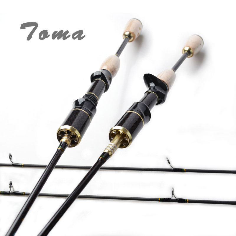 TOMA Spinning Baitcasting Fishing Rod Japan Carbon Fiber 1.8m 2 Section 602UL Lure Rods Fast Action Travel Rod Fishing Tackle