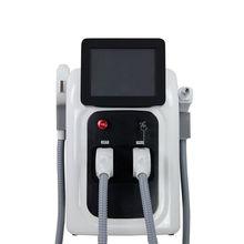 2 in 1 Berufs OPT SHR IPL Schnelle Haar Entfernung Maschine Nd Yag Laser Tattoo Entfernung Clicht Haut Verjüngung Maschine