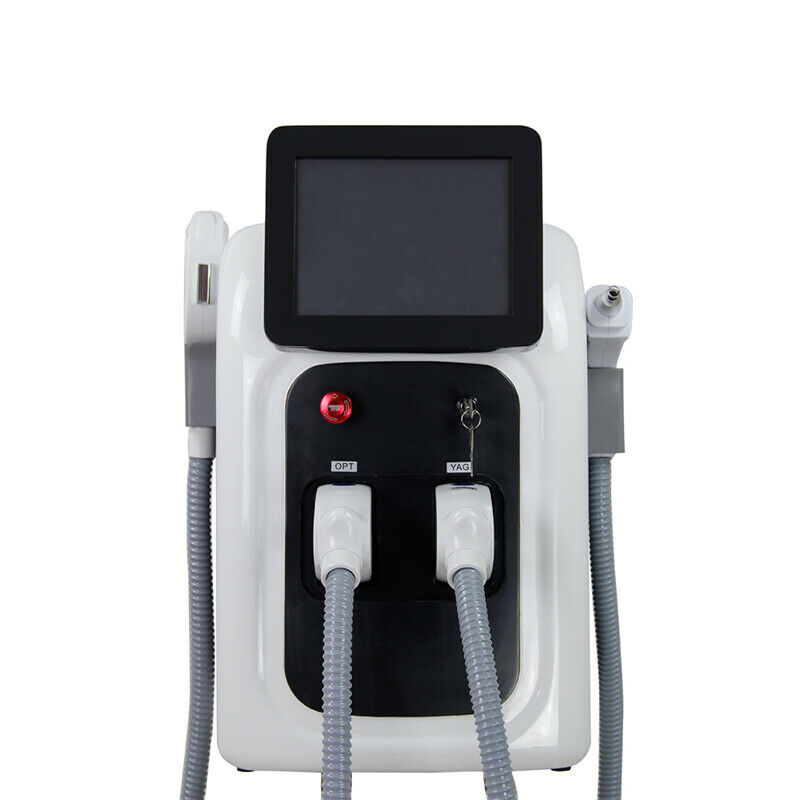 2 in 1 Professional OPT SHR IPL Fast Hair Removal Machine Nd Yag Laser Tattoo Removal Elight Skin Rejuvenation MachineFace Skin Care Machine   -
