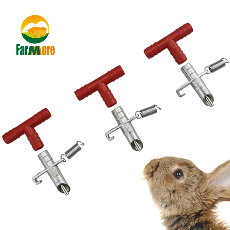 30pcs Rabbit Nipple Water Drinker Waterer Poultry Feeder Bunny Rodent Mouse MJ