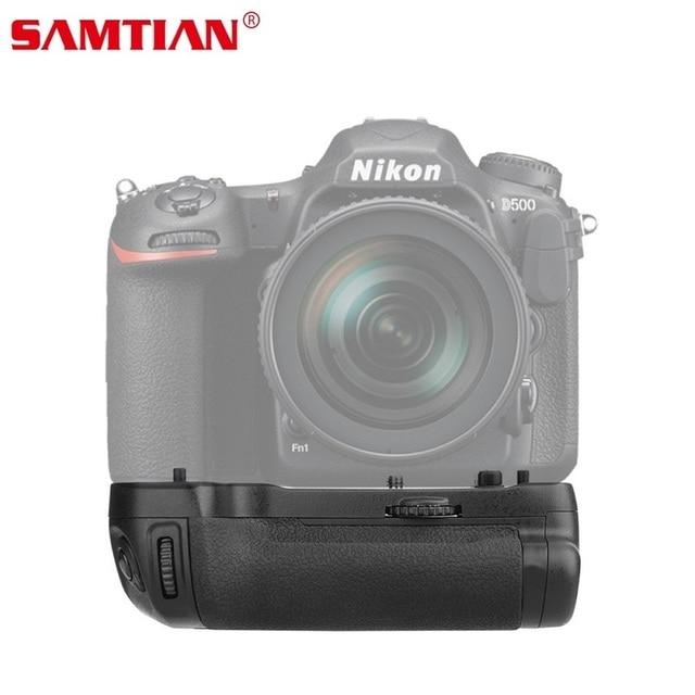 SAMTIAN רב תפקודי מחזיק גריפ אנכי סוללה עבור NIKON D500 DSLR מצלמה להחליף MB D17 לעבוד עם EN EL15 סוללה