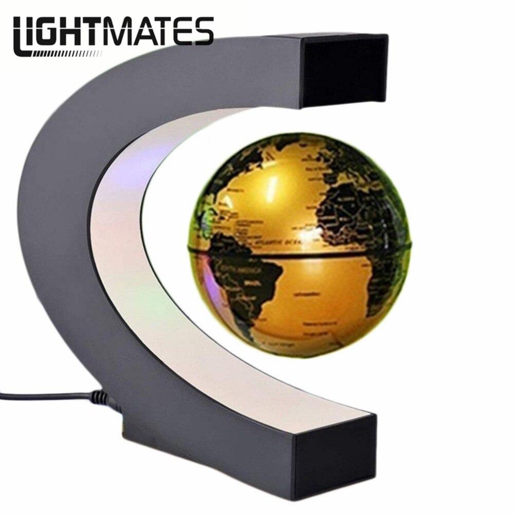 globo c levitazione magnetica  Novità C Forma LED Luce Mappa Del Mondo Globo di Levitazione ...