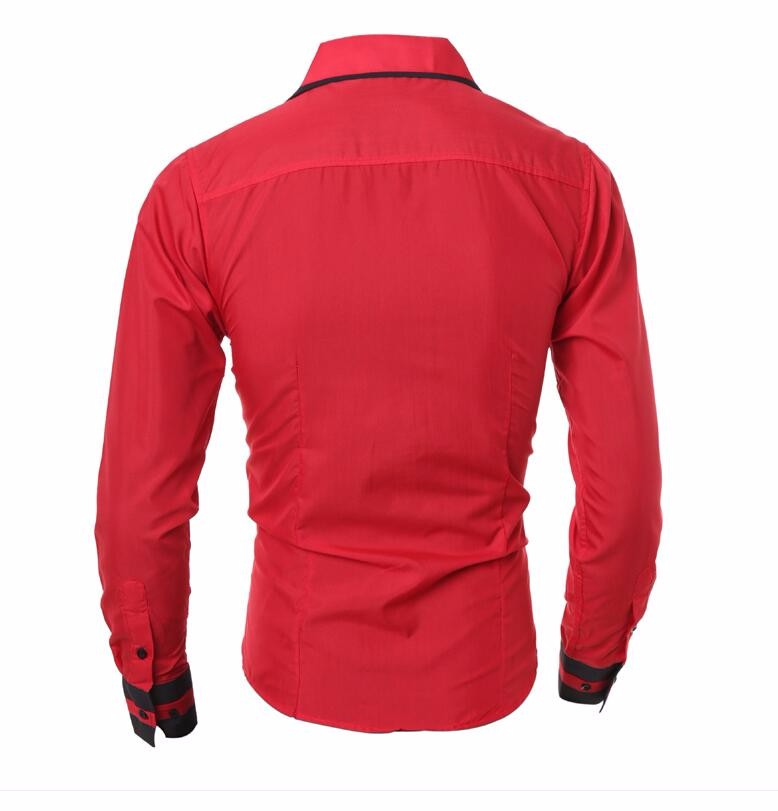 Men Shirt 17 Fashion Brand Men'S Cuff Striped Long-Sleeved Shirt Male Camisa Masculina Casual Slim Chemise Homme XXL SHDWQ 14