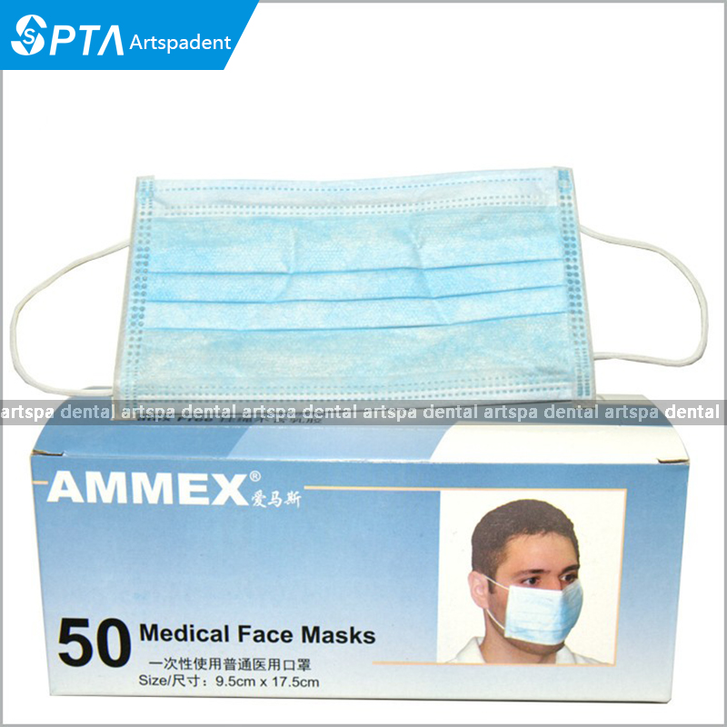 pack Mask Woven 50pcs Disposable Non Face Medical Dental Black
