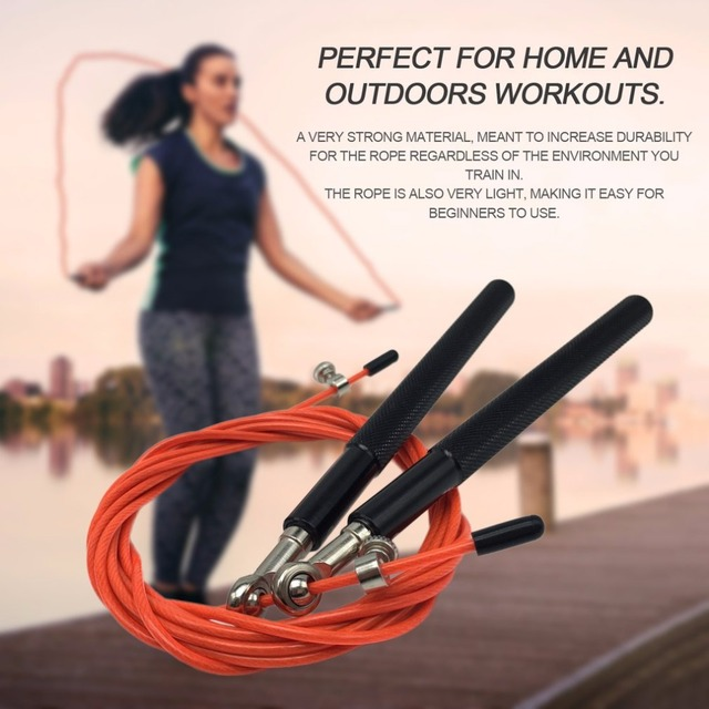 REIZ 3 Meters Metal Ball Bearing Adjustable Exercise Training Speed Jump Rope Sport Skipping Fitness Equipment Home Gym