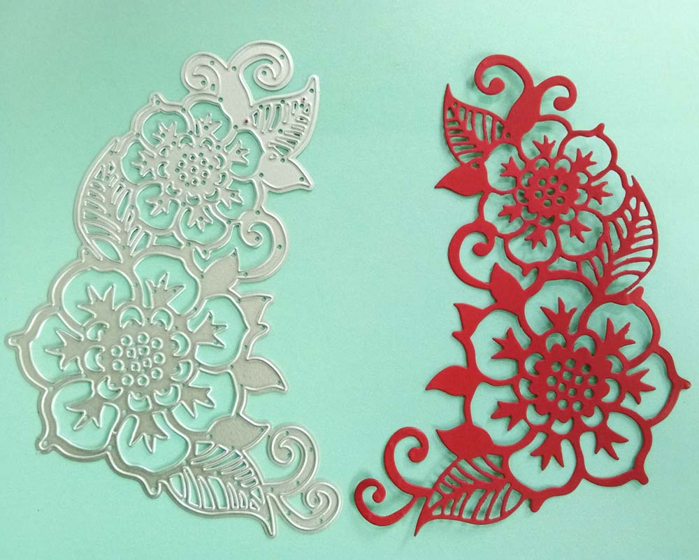 Lace corner Metal Cutting Dies Stencil For DIY Scrapbooking Album Cards Decor//.