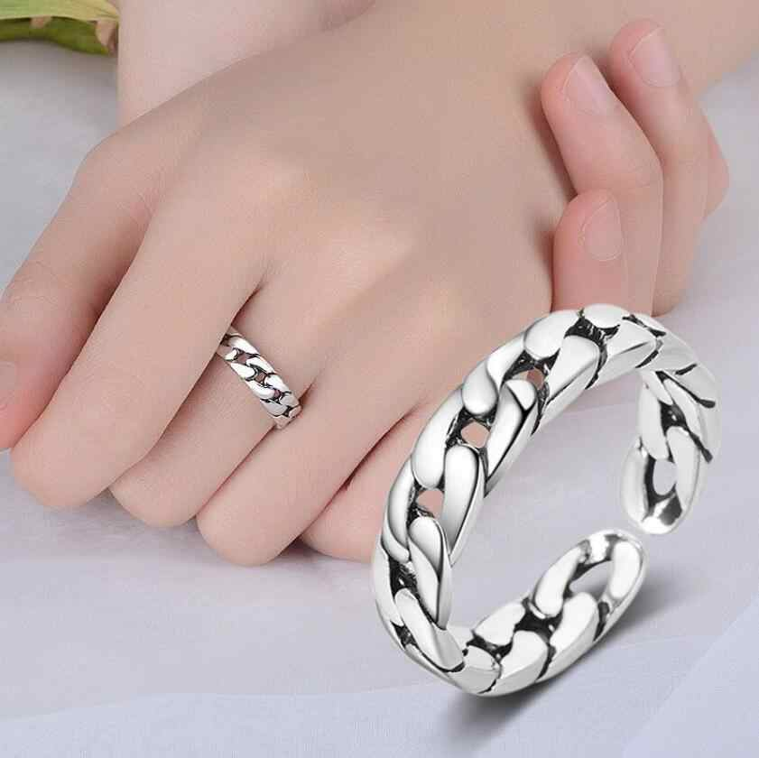 New Cross Border Fashion Ring Jewelry Stainless Steel Men's Tire Print Ring Simple Chain Ring