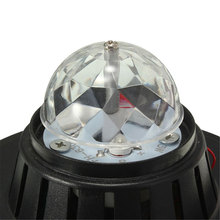 US EU Plug Mini Rotating RGB Laser Projector Crystal Magic LED Ball Club Stage Light for Party KTV DJ Bar Disco