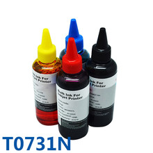 400 мл пополнения чернил комплект массовая чернила для принтера epson t0731n Stylus CX7300 CX8300 TX210 C79 C90 CX3900 CX3905 CX3905 CX4900 CX49