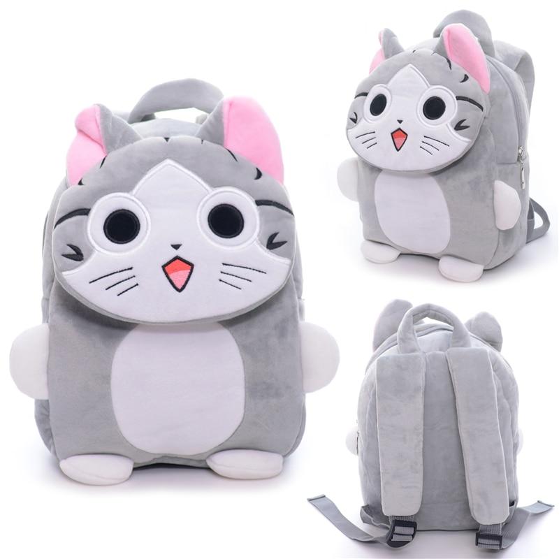 Cartoon Plush Backpacks Kids Adjustable Backpack Baby Shoulder Kindergarten Bag 2-5 Year ...
