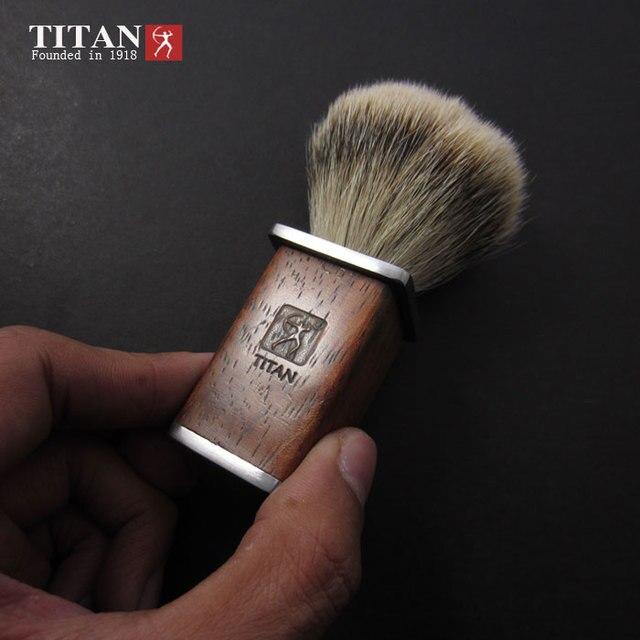 Титан бритвы щетки лучший барсук волос, деревянная ручка бритвы инструменты