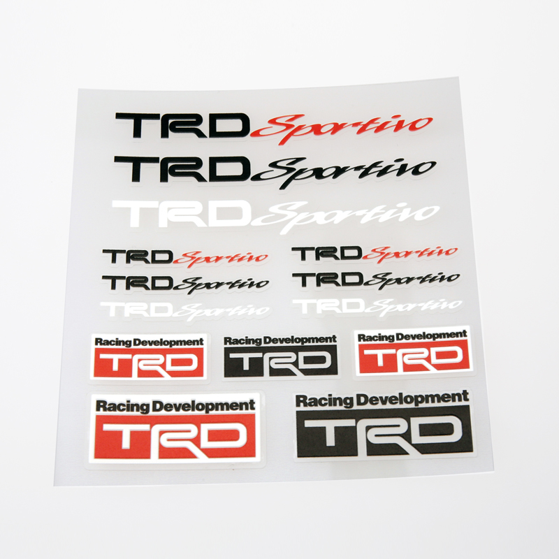 TRD Car Styling MINI Car Accessories M Vinyl Wrap Decal Adhesive - Vinyl decals for race carspopular trd vinyl decalbuy cheap trd vinyl decal lots from china