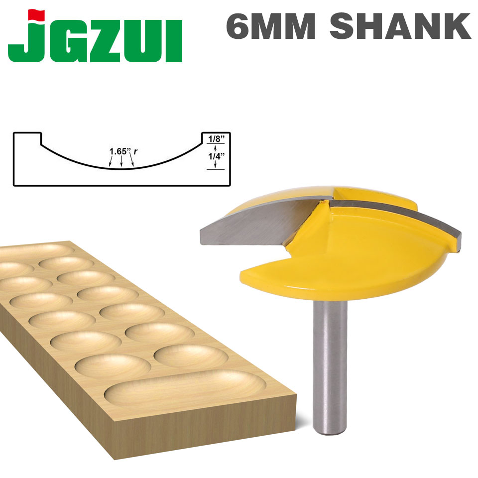 """1PC 6mm Shank Small Bowl Router Bit - 1-1/2"""" Radius - 1-3/4"""" Wide Door Knife Woodworking Cutter RCT"""
