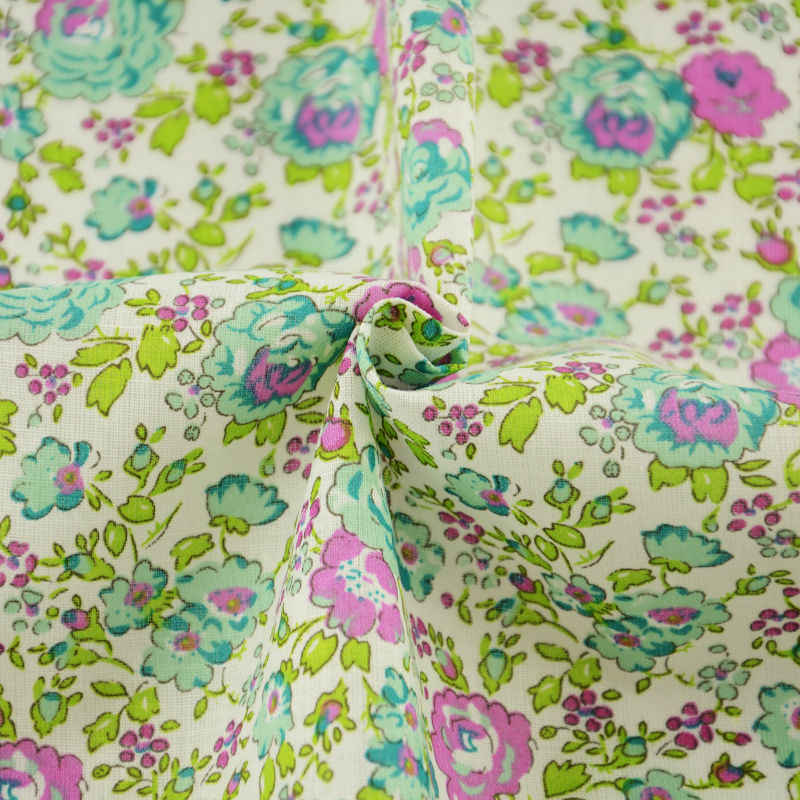 Telas Patchwork Algodon Green 100% Cotton Fabric Meter Plain Flowers And Leaves Designs Tela Sewing Ankara Fabric 150cm Material