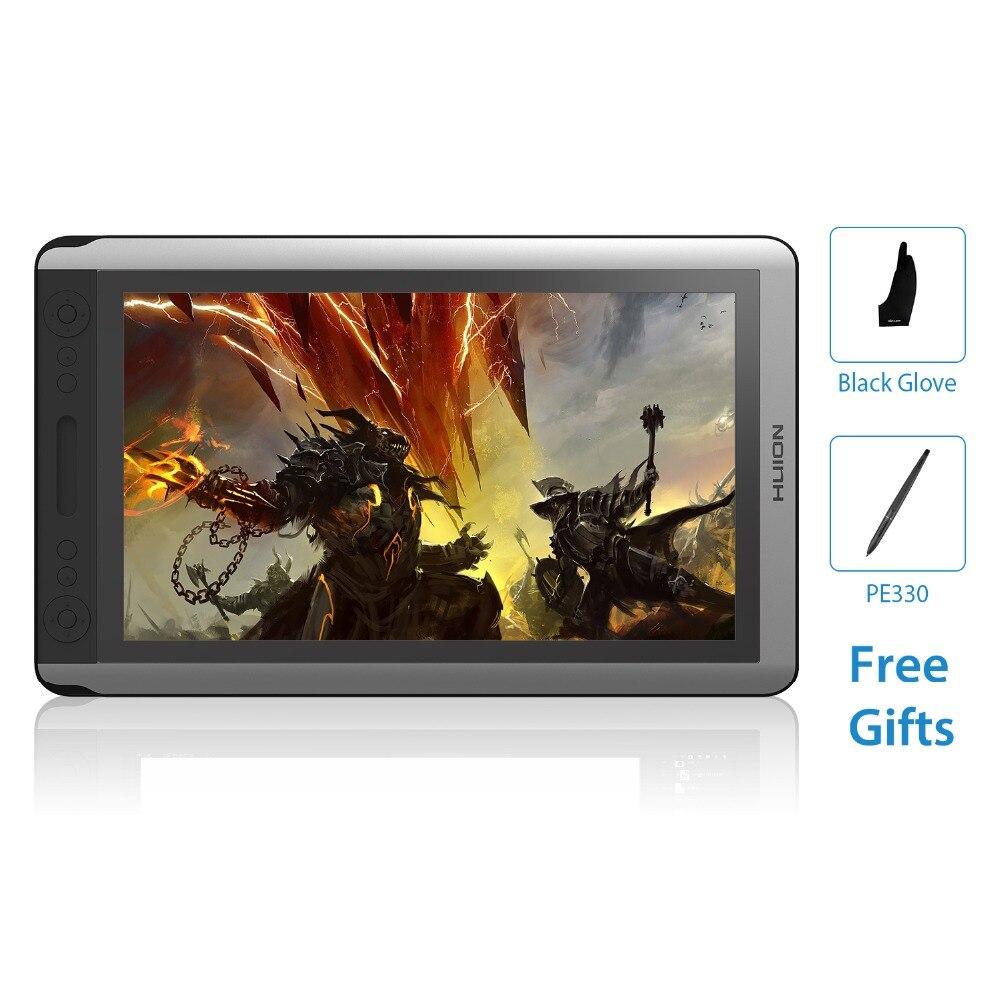 HUION KAMVAS GT-156HD V2 15.6 Pouces IPS Stylo Tablette Numérique Dessin Graphique Moniteur D'affichage à CRISTAUX LIQUIDES avec 8192 Niveaux et cadeau