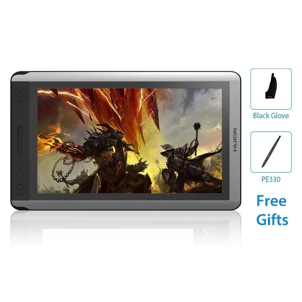 HUION KAMVAS GT-156HD V2 15,6 pulgadas IPS pluma tableta Monitor gráficos digitales dibujo Monitor LCD con 8192 niveles y regalo