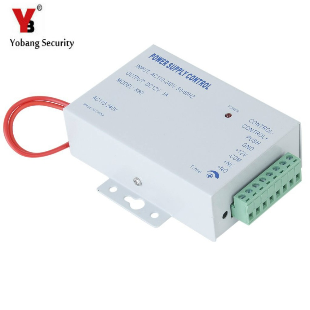 YobangSecurity AC 110-240V to DC 12V 3A Power Supply Switch Time Delay For Home Door Access Control System Worldwide VoltageYobangSecurity AC 110-240V to DC 12V 3A Power Supply Switch Time Delay For Home Door Access Control System Worldwide Voltage