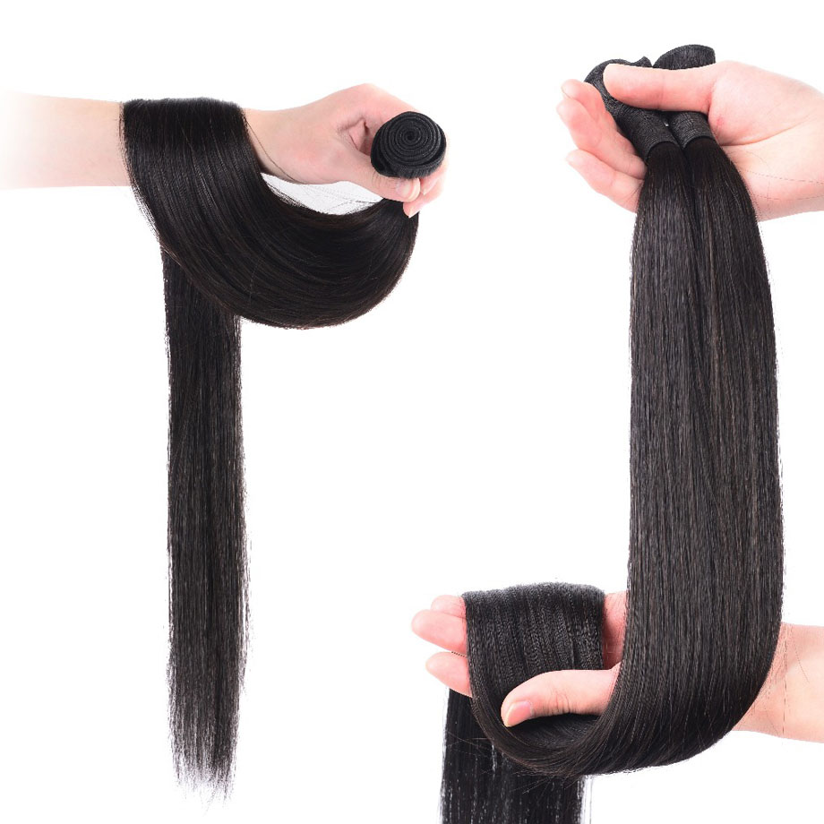 Brazilian Hair Weave Bundles 8 To 30 40 Inch Human Hair Bundles Non-remy Natural Color Straight Hair Extension 1 3 4 Pieces