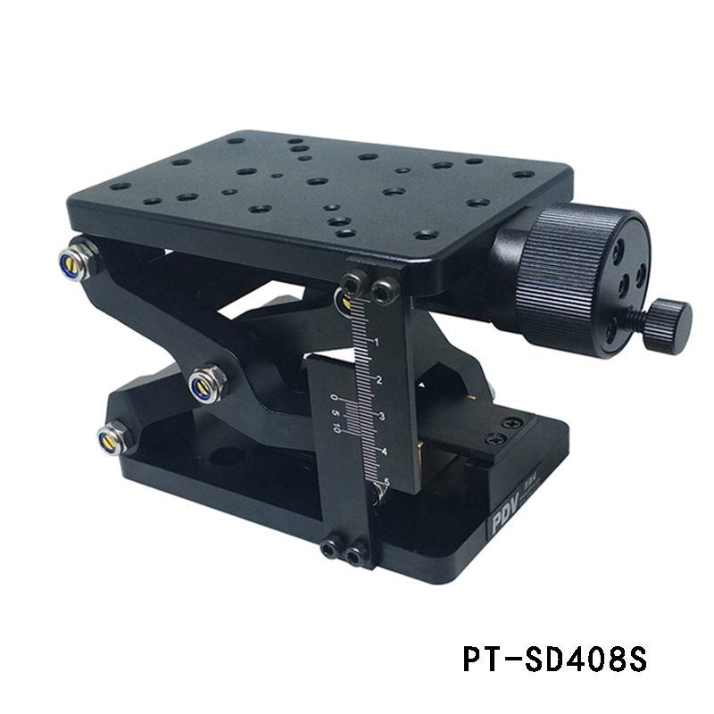 PT-SD408S 60mm travel z axis Manual Lab Jack Optical Lift Manual Optical Sliding lifting platform Table with ruler pt 01pb high precision optical flat optical plate optical breadboard aluminum alloy platform