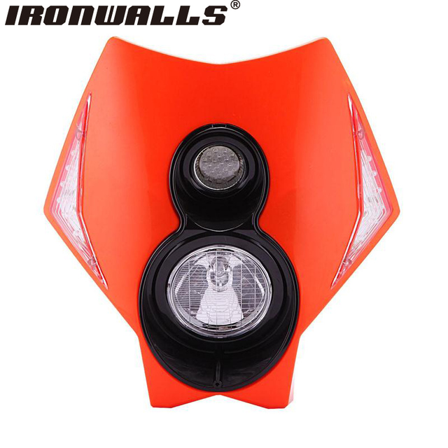 Ironwalls Motorcycle Orange Headlight Fairing Kit For Aprilia Beta Derbi Gilera HM-Moto Husqvarna Malaguti