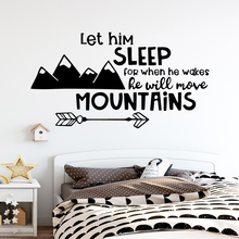 Cartoon Mountain Wall Decal Living Room Removable Mural Children Stickers Waterproof Wallpaper