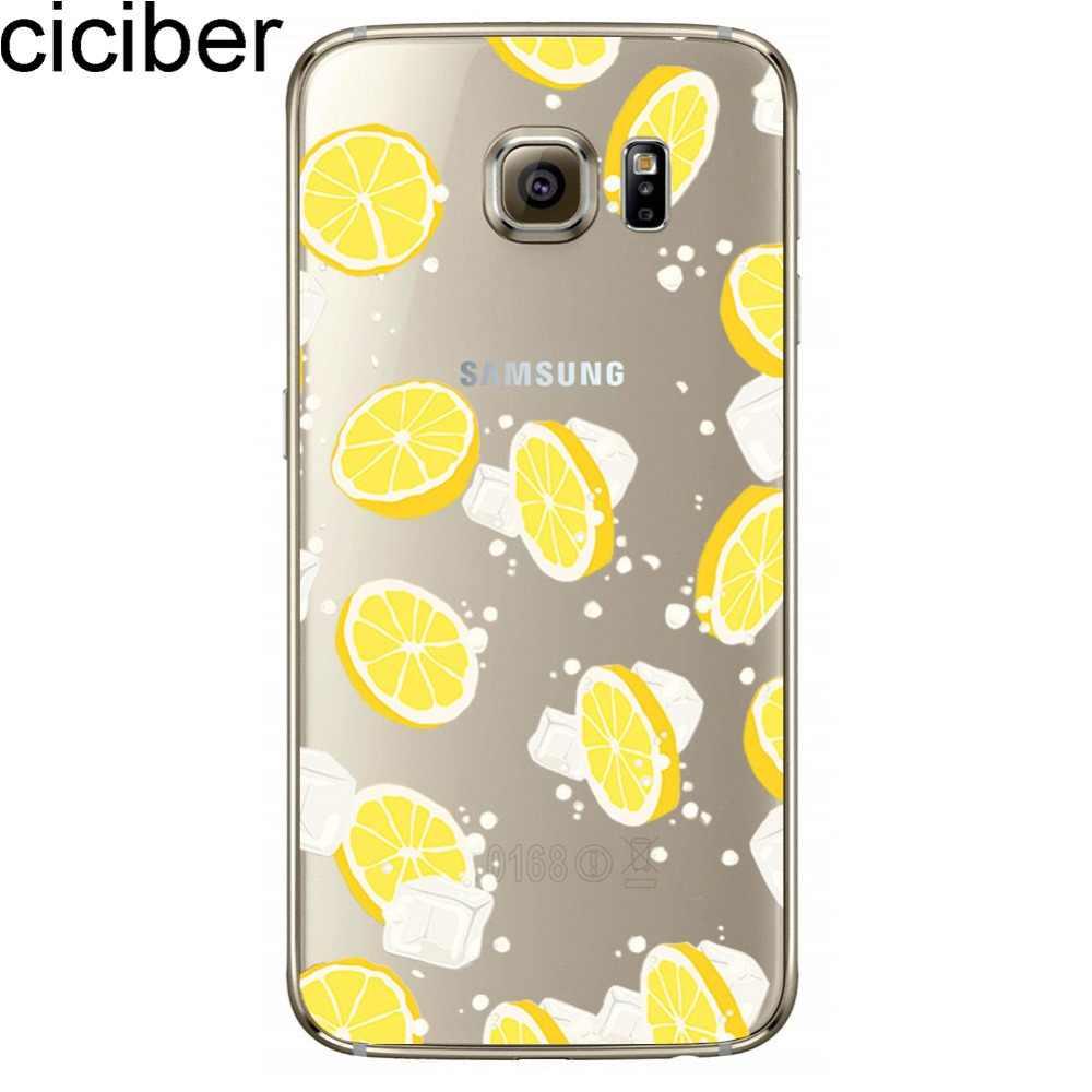 Ciciber Đá Chanh Hồng Hạc Bánh Rán Popsicle Hoa Chuối Hoa Văn Thiết Kế Mềm TPU Bao Da Ốp Lưng Cho Samsung Galaxy S7 S6 Edge coque